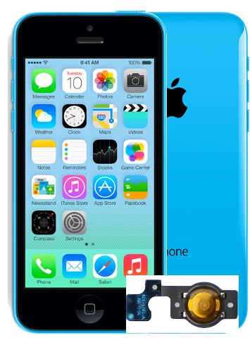 lll iphone 5c Home Button Repair